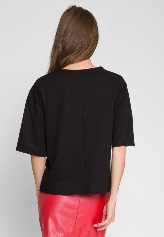 Talbert Button Sweatshirt in Black alternate img #2