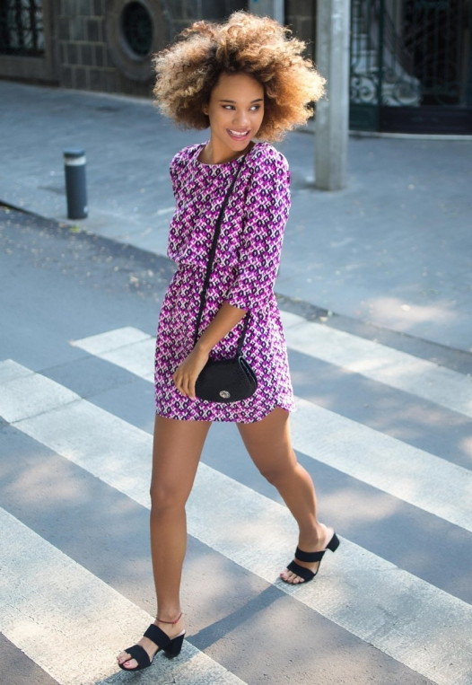 Quirky Geometric Printed Dress alternate img #1