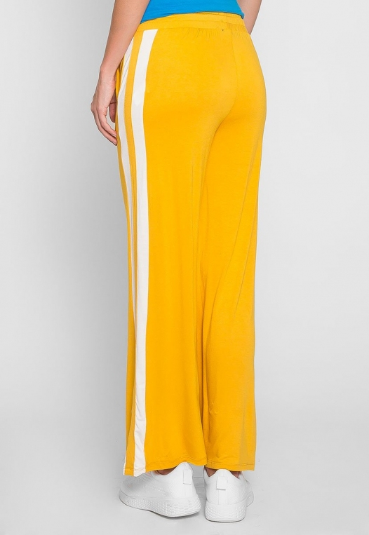 Sunny Day Wide Leg Joggers in Yellow alternate img #2