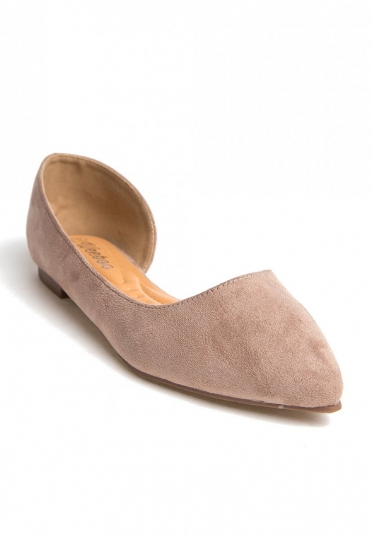 Vivian Pointed Flats in Taupe alternate img #4