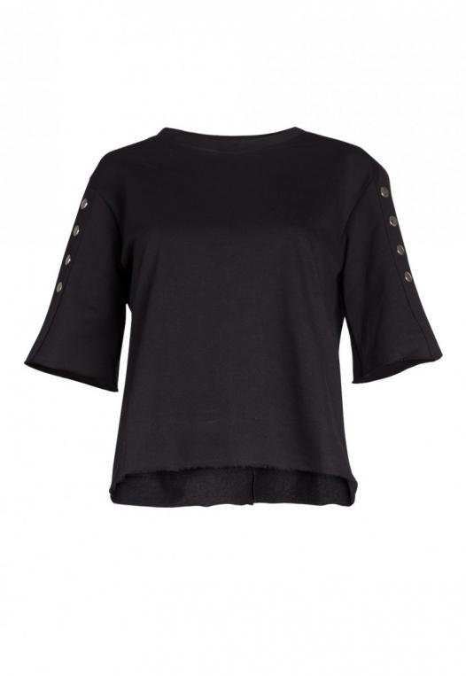 Talbert Button Sweatshirt in Black alternate img #7