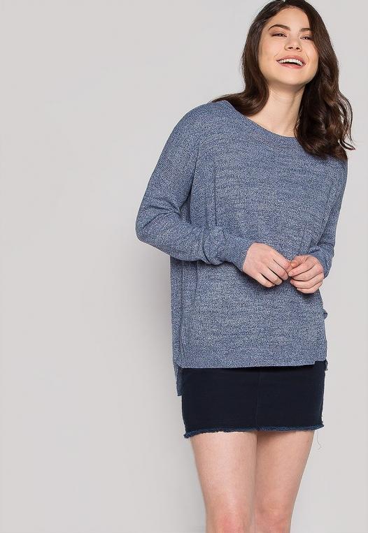 Marily Step Hem Oversized Sweater in Blue alternate img #5