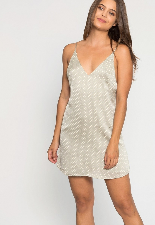 Sugar Dots Slip Dress in Gray alternate img #5