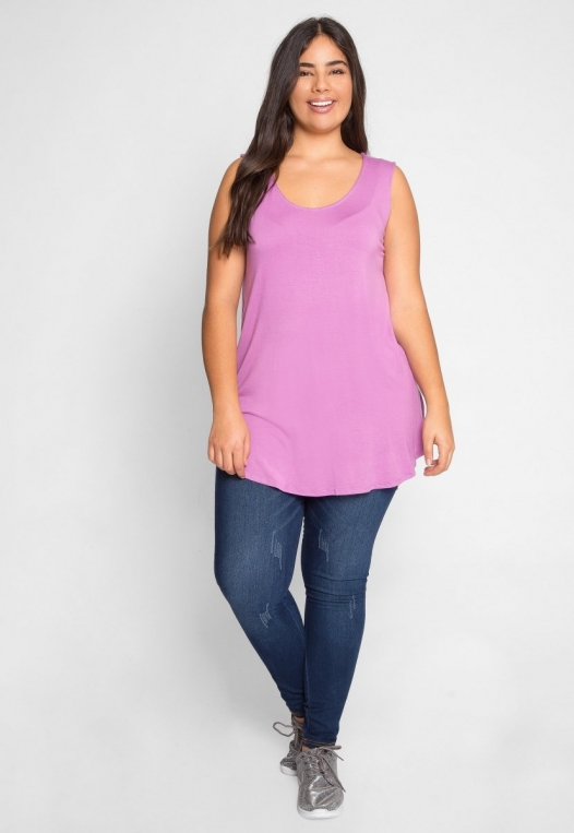 Plus Size Gilroy Sleeveless Top in Mauve alternate img #5