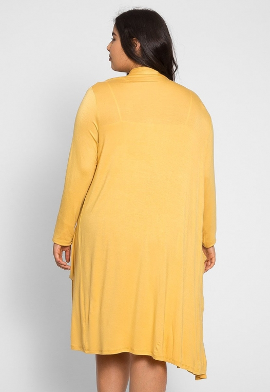 Plus Size Catalena Longline Cardigan in Yellow alternate img #2