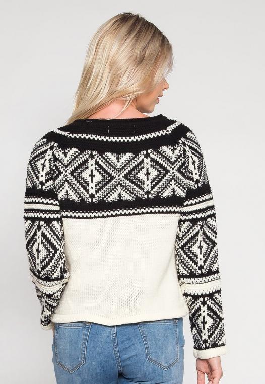 Explorers Geo Pattern Sweater in Black alternate img #2