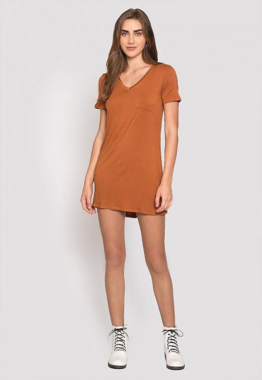 Hazelnut T-Shirt Dress alternate img #4
