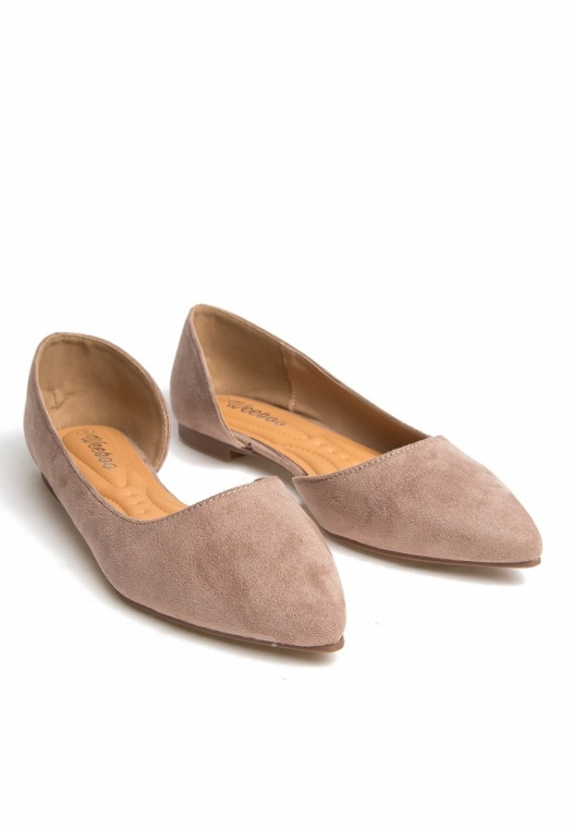 Vivian Pointed Flats in Taupe alternate img #5