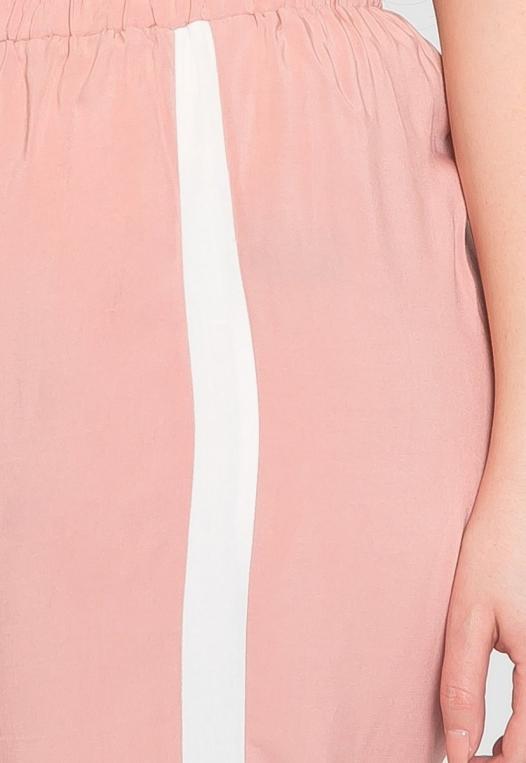 Plus Size Side Stripe Knit Pants in Blush alternate img #6