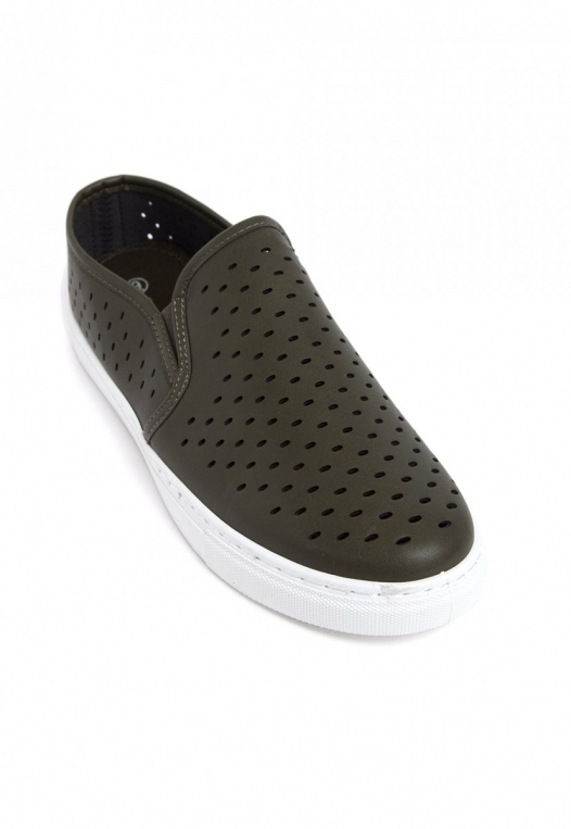 Ace Laser Cut Sneakers in Olive alternate img #4