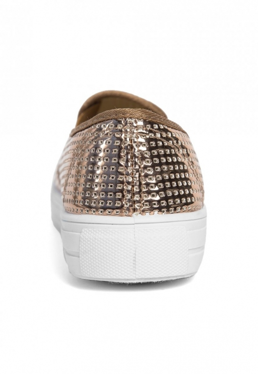 All That Glitters Metallic Slip On Sneakers alternate img #2