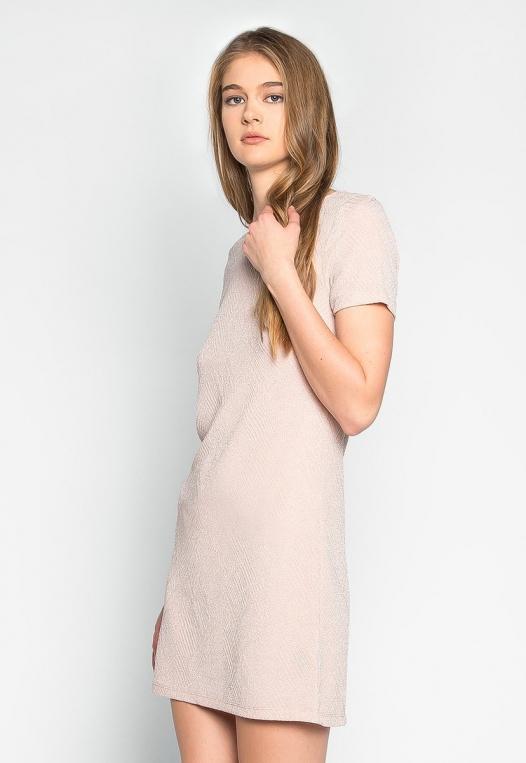 Sakura Glitter Embellished Shift Dress alternate img #3