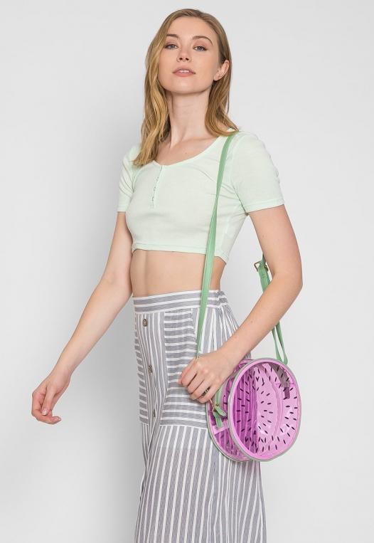 Juicy Printed Clear Canteen Bag in Purple alternate img #2