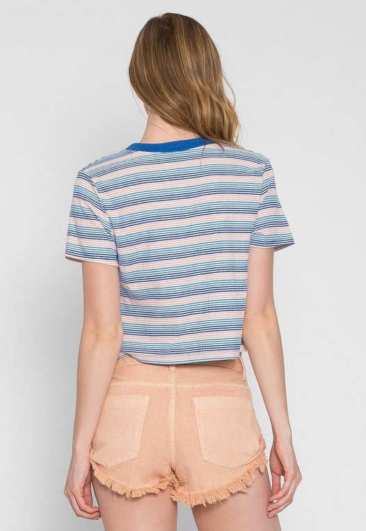 Swirl Stripe Crop Top alternate img #2