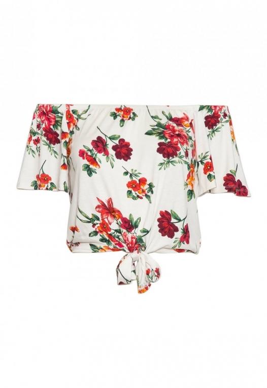 Moira Floral Off Shoulder Knit Top alternate img #9