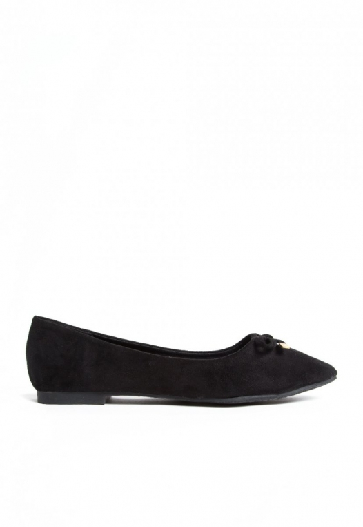 Lee Bow Front Flats in Black alternate img #1