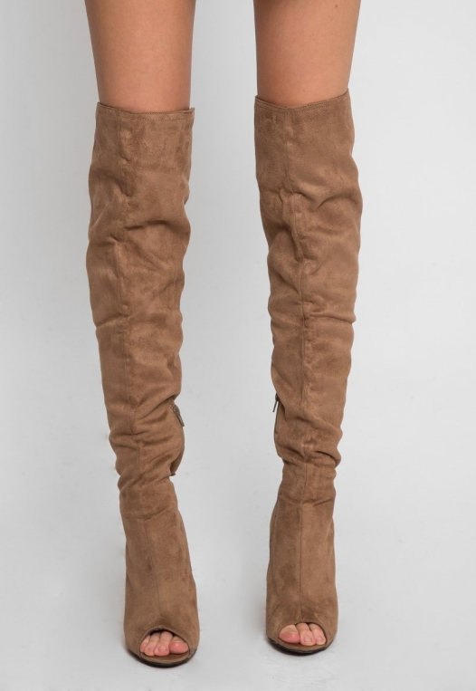 Joy Ride Open Toe Thigh High Boots alternate img #2