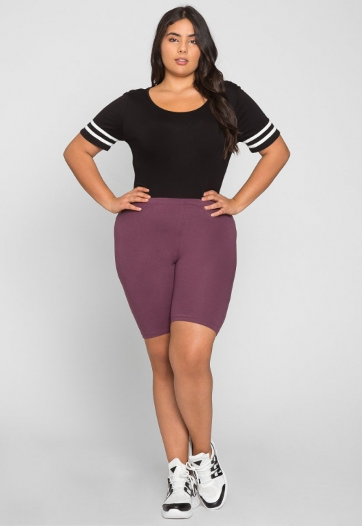Plus Size Varsity Scoop Neck Bodysuit in Black alternate img #5