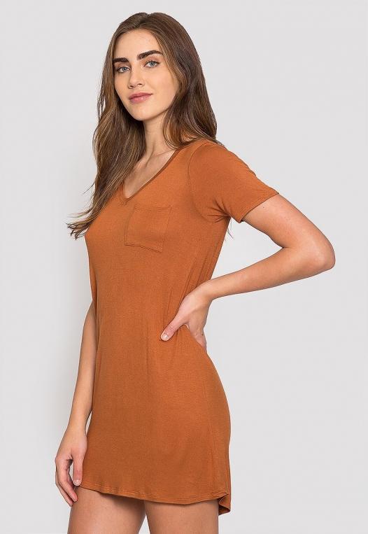Hazelnut T-Shirt Dress alternate img #3