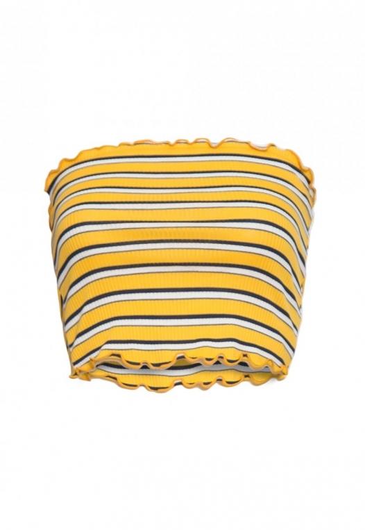 Arcadia Stripe Tube Top in Yellow alternate img #7