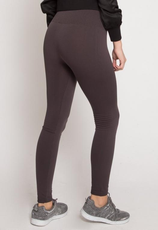 Cozy Fleece Lined Leggings in Gray alternate img #4