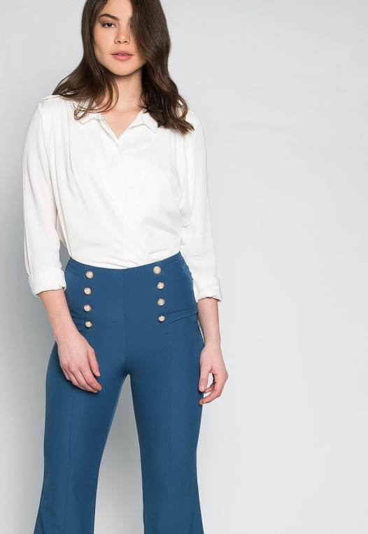 About You Pearl Button Flare Pants alternate img #5