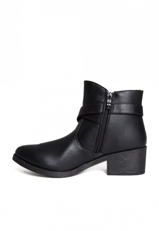 Tavern Buckle Ankle Boots in Black alternate img #3