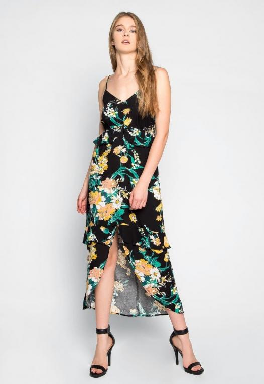 In Bloom Ruffle Waist Floral Dress alternate img #3