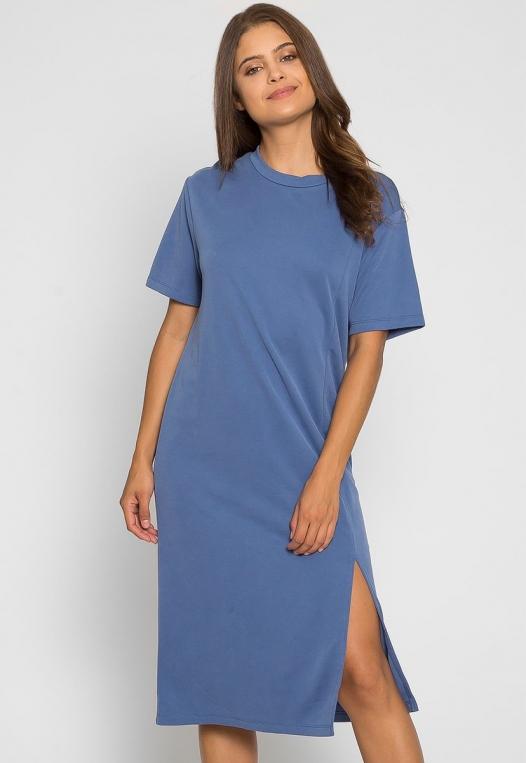 Make it Easy Slit Midi Dress alternate img #1