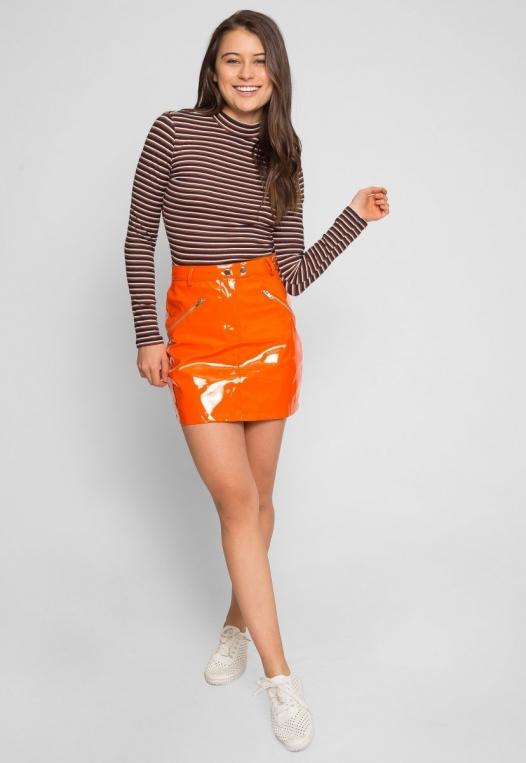 Leroy Neon Mini Skirt in Orange alternate img #5