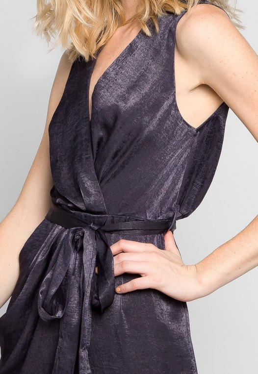 Young & Beautiful Wrap Belted Jumpsuit in Black alternate img #6
