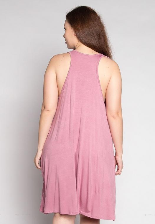 Plus Size Love Stories Tank Dress in Pink alternate img #2