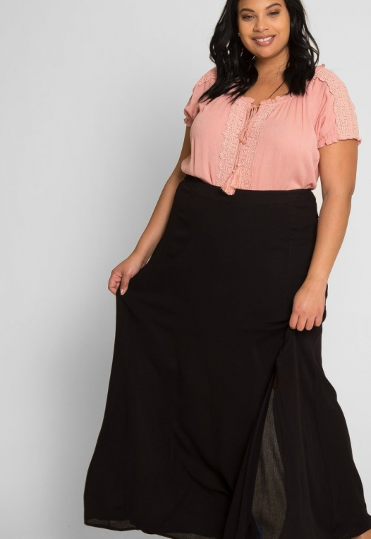 Plus Size Prairie Fields Maxi Skirt alternate img #5