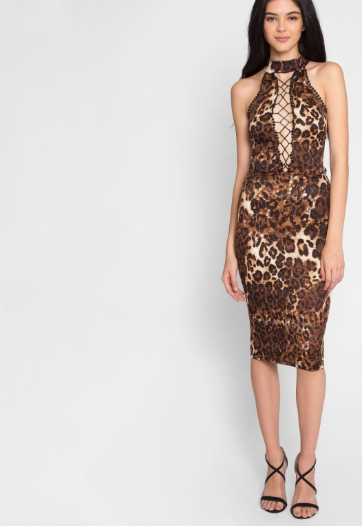 Belhurst Leopard Midi Dress alternate img #5