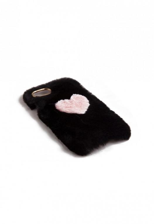 Fuzzy Heart Phone Case alternate img #1