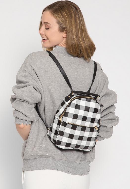 Gingham Mini Backpack alternate img #2