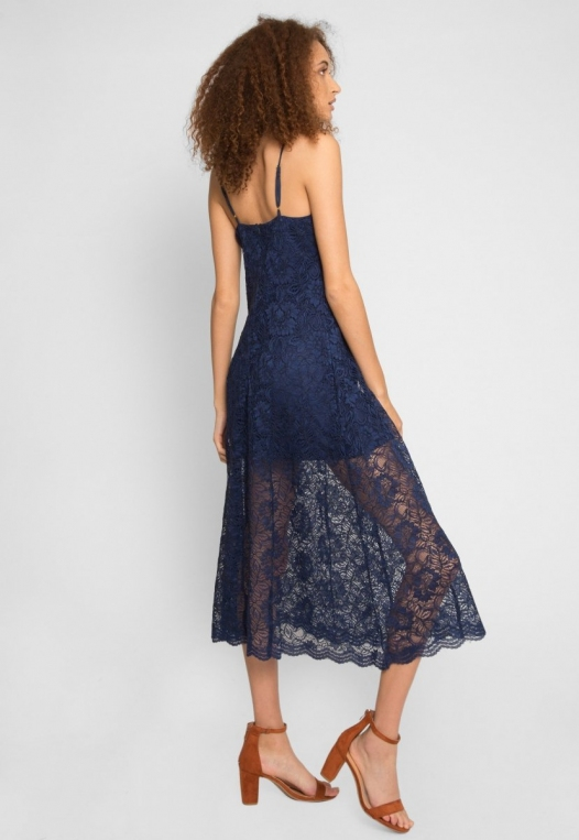Manhattan Lace Maxi Dress in Navy alternate img #2