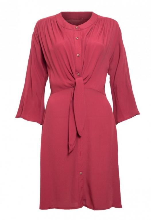 Memories Shirt Dress in Wine alternate img #7