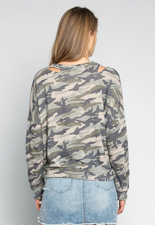 Far From Home Camo Sweatshirt alternate img #2