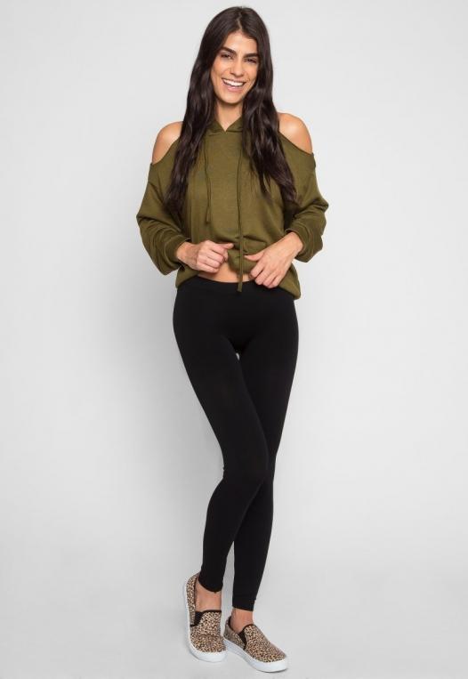 Unison Basic Leggings in Black alternate img #1