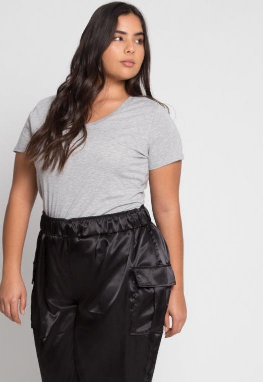 Plus Size Margot Satin Cargo Pants alternate img #5