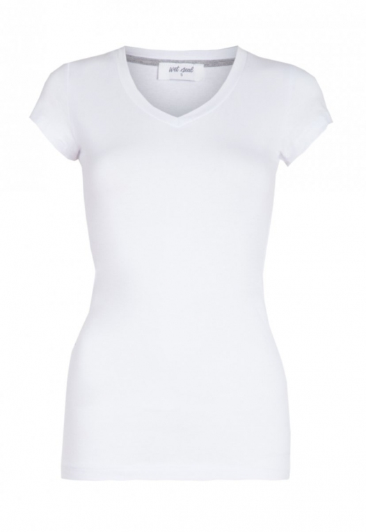 Venus V-Neck Tee in White alternate img #7
