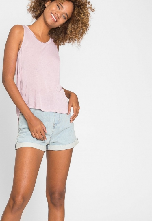 Soft Knit Tank Top in Light Lavender alternate img #6