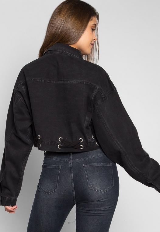 Moonlight Crop Denim Jacket alternate img #2