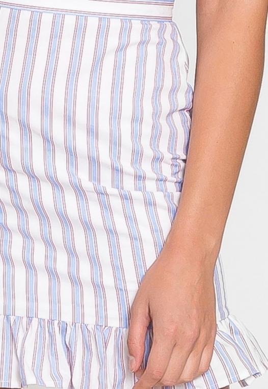 Powder Vertical Stripe Skirt alternate img #7