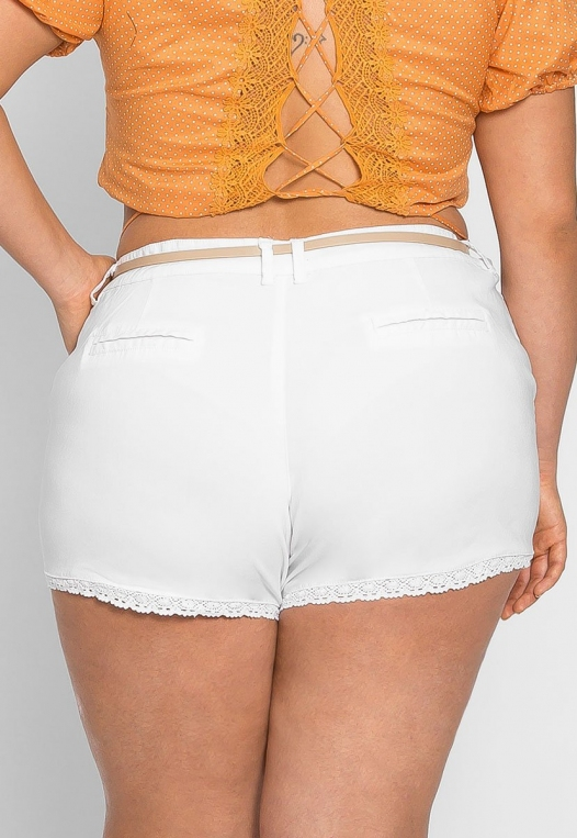 Plus Size Caribbean Crochet Trim Shorts alternate img #2