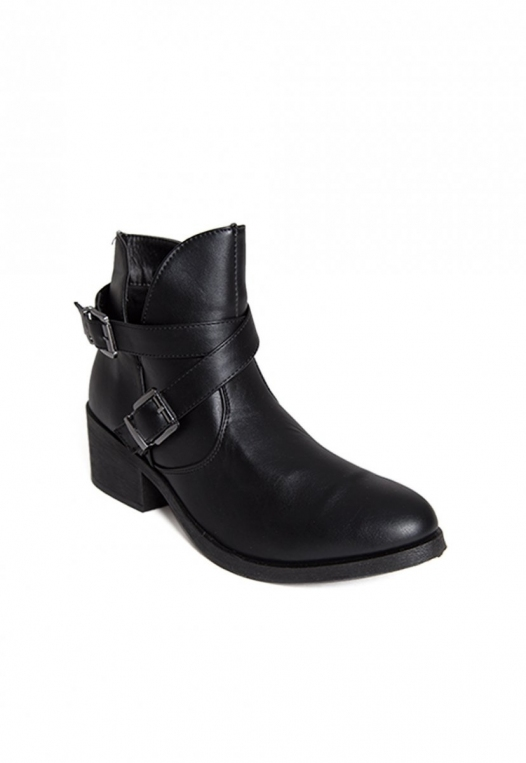 Tavern Buckle Ankle Boots in Black alternate img #4