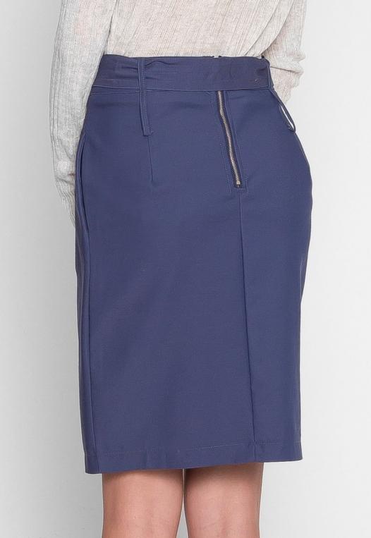 Tie Front Overlay Skirt in Navy alternate img #4