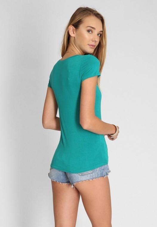 Basic t-shirt in green alternate img #3