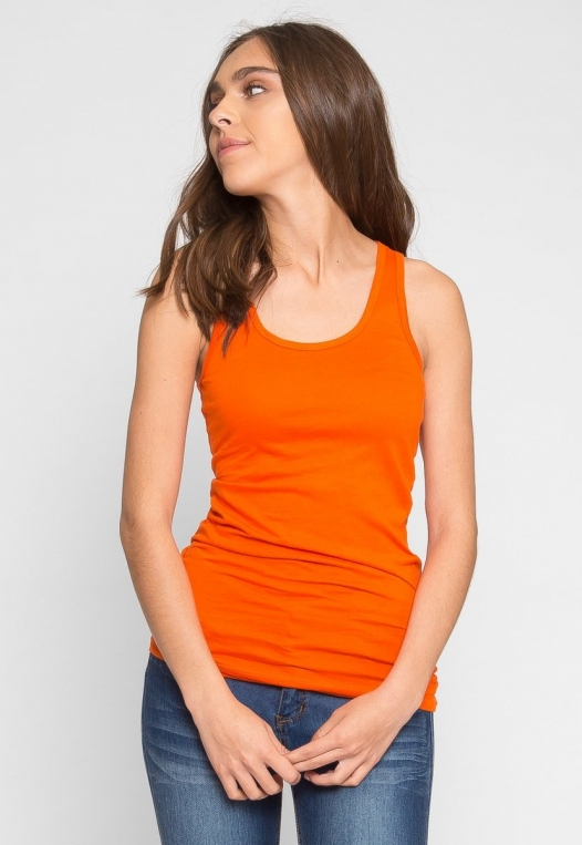 Retrograde Tank Top in Orange alternate img #1